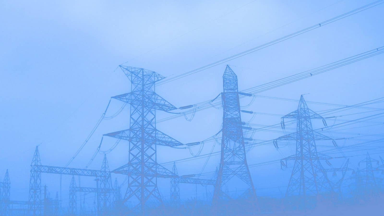 electricity power poles