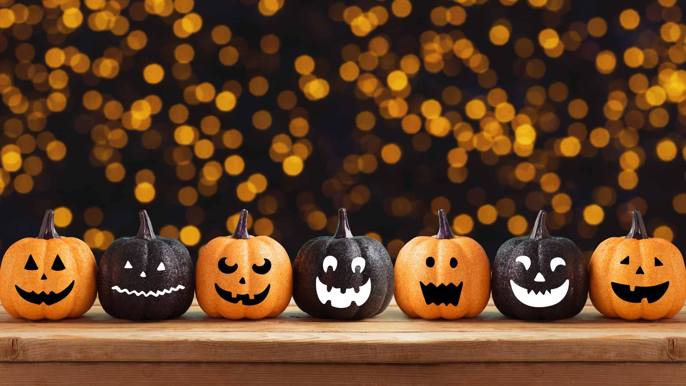 asx growth shares for october represented by miniature jack o lantern pumpkins