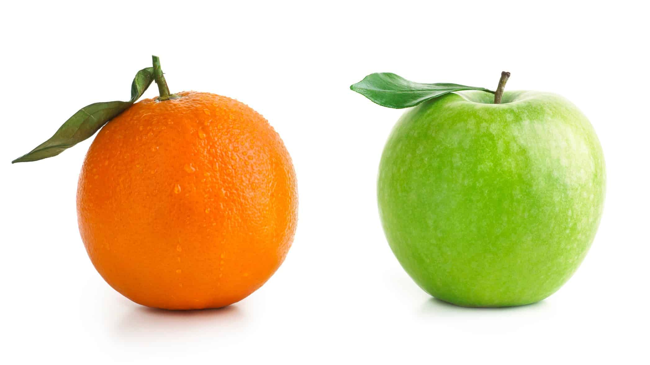 comparing asx shares and company tax represented by an apple and orange side by side