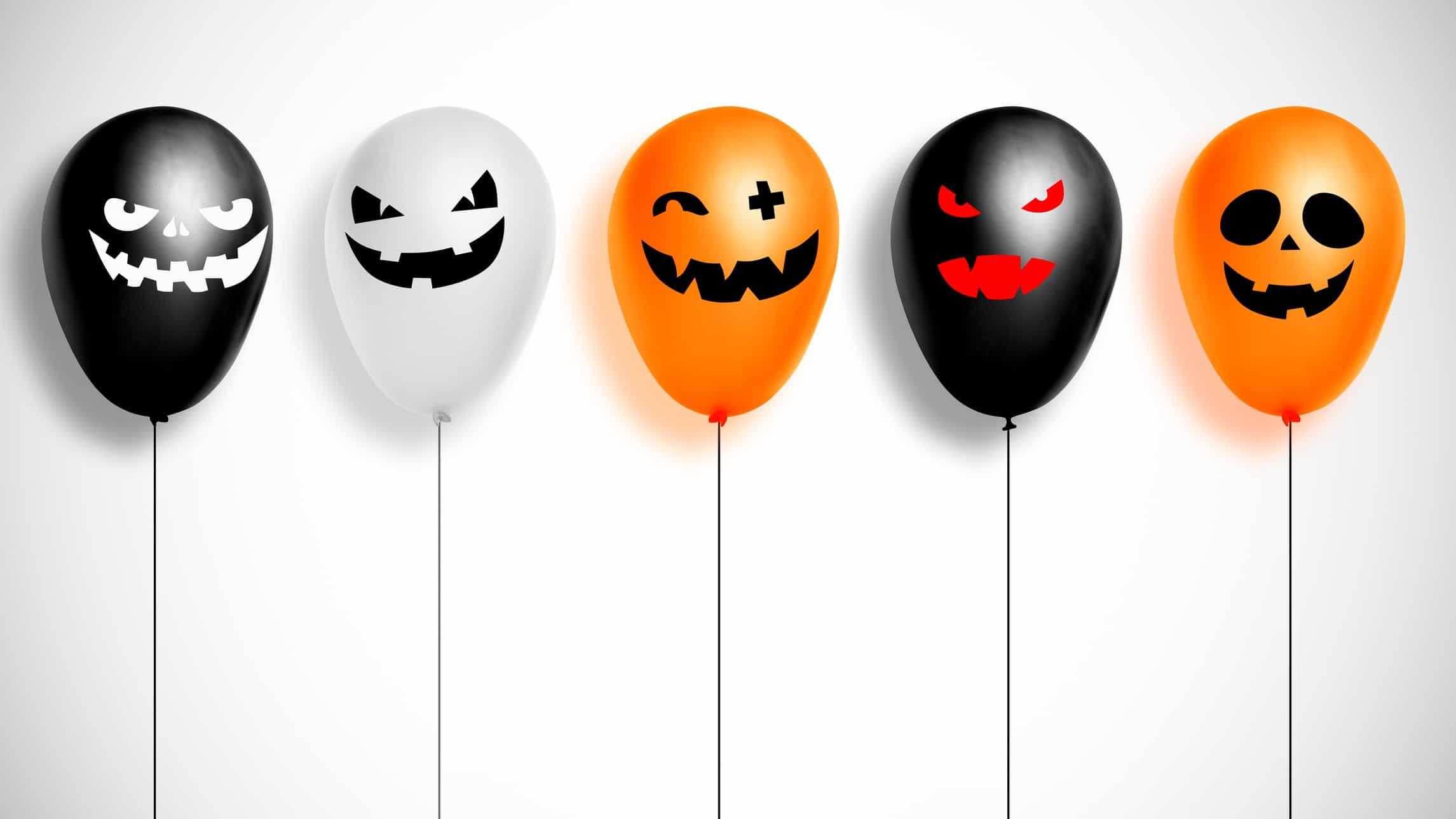 Top ASX stocks for October represented by variety of different halloween balloons