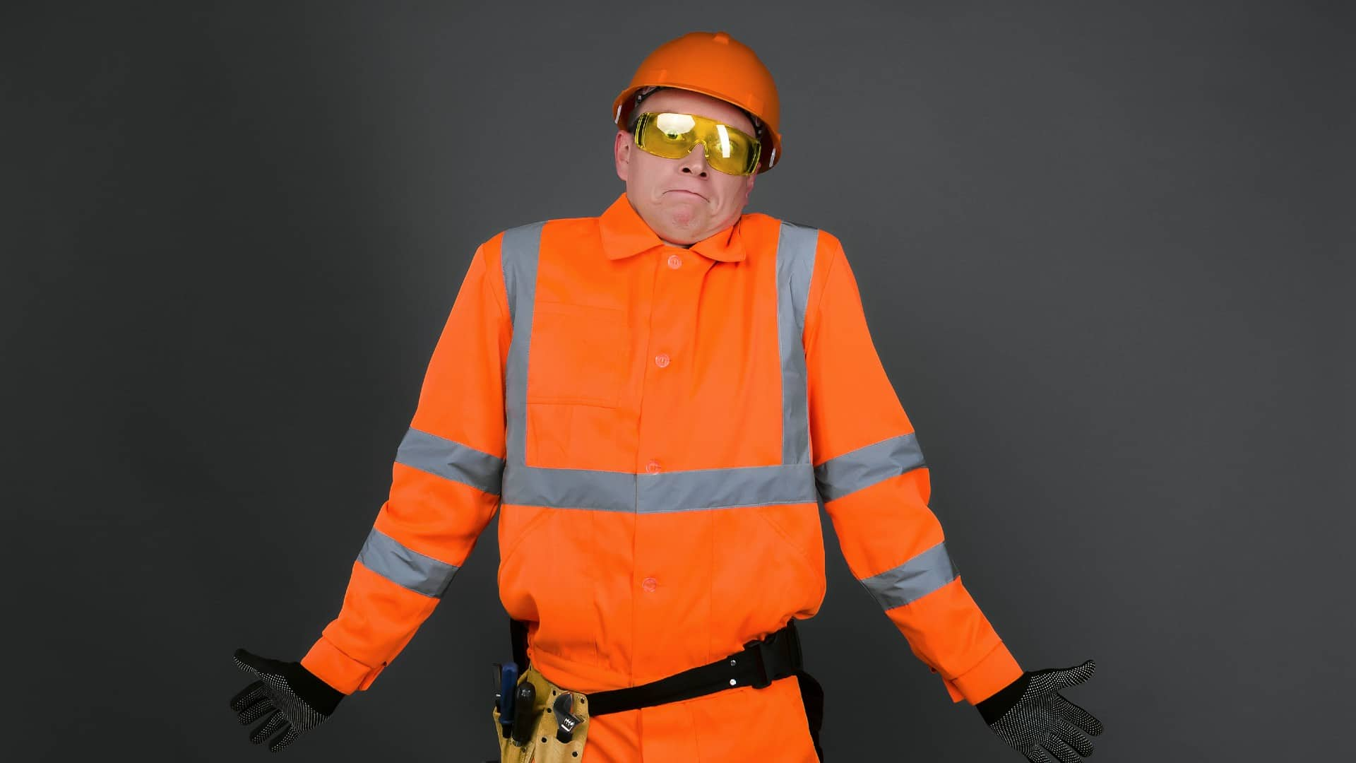 energy asx share price flat represented by worker in hi vis gear shrugging
