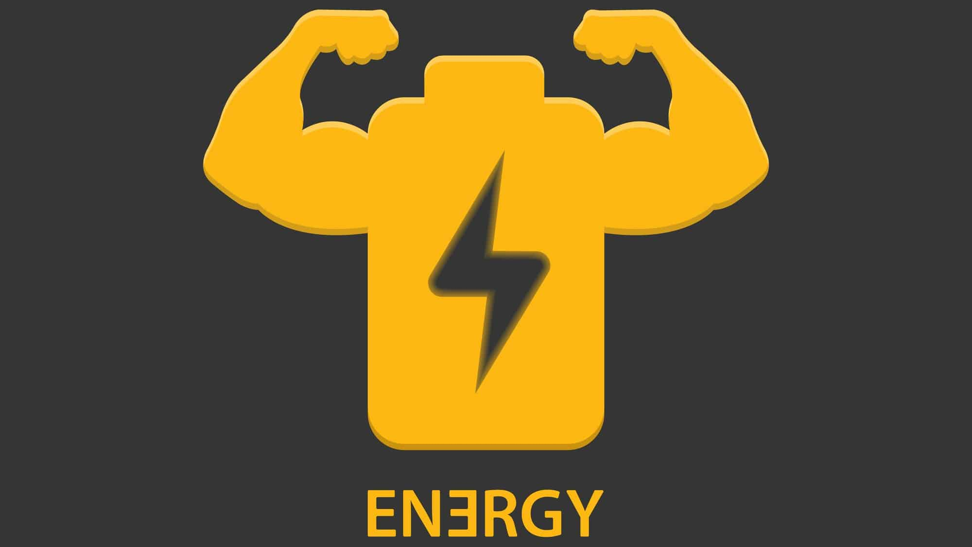 ASX lithium shares A stylised clean energy battery flexes its muscles, indicating a strong lift in share price for ASX energy companies