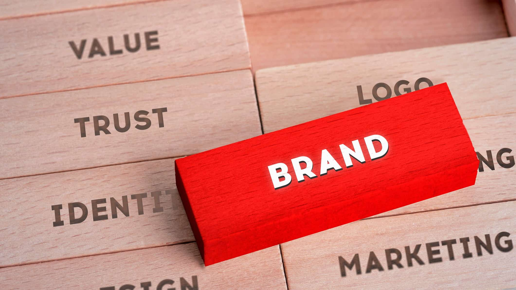 trusted ASX brands represented by wooden blocks printed with words trust and brand