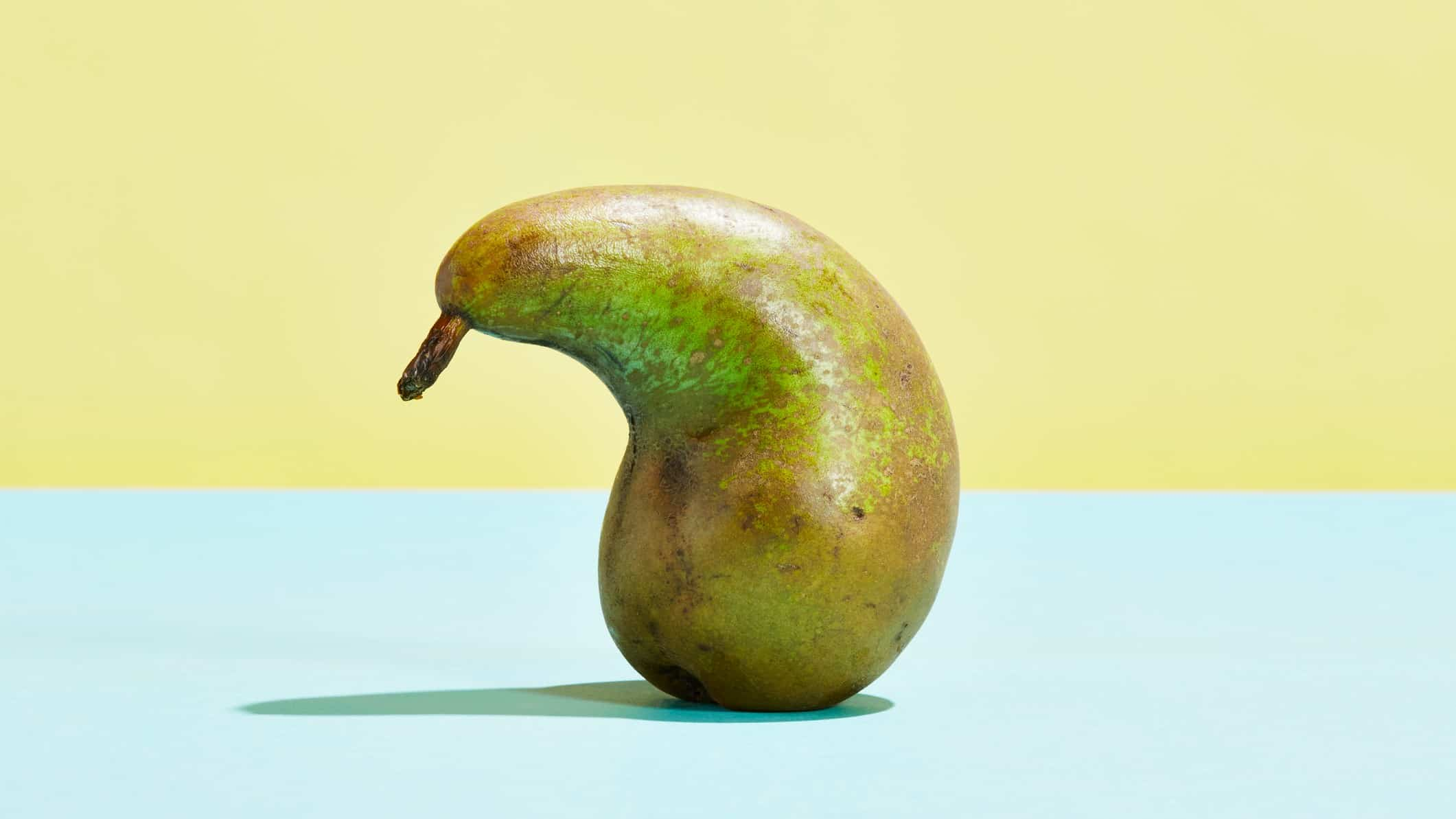 flat asx share price represented by sad looking pear