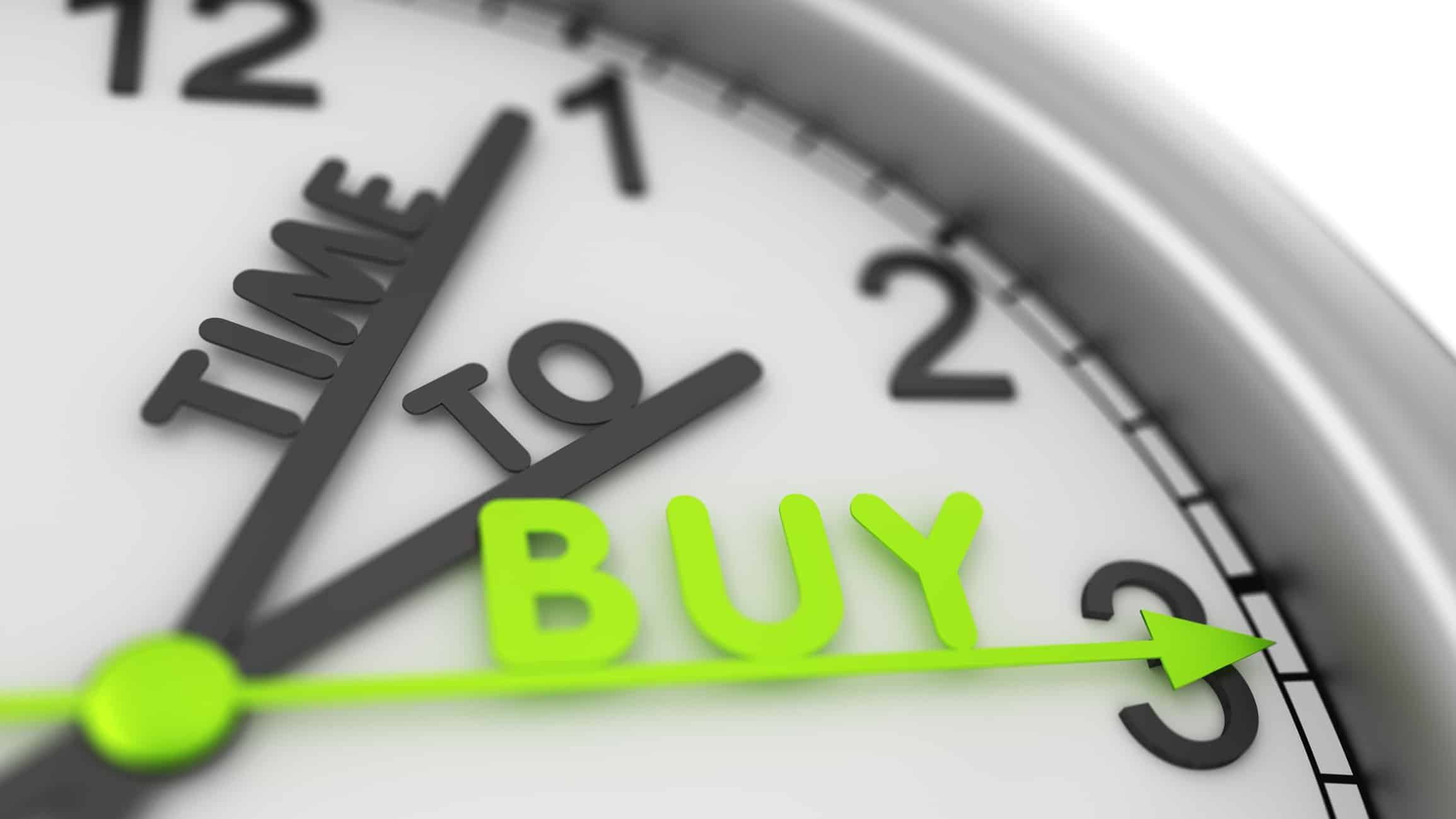 ASX 200 shares to buy A clockface with the word 'Time to Buy'